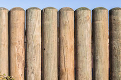 Wood Pole Fence Section Royalty Free Stock Photo