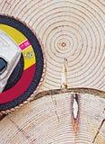 Wood polering Arkivbild