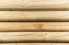 Wood Poles Wall Background Stock Photo