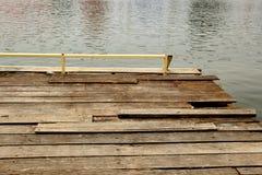 Wood pontoon Stock Photo