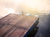 Wood pontoon Royalty Free Stock Images