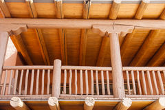 Wood Porch on Adobe Building Stock Images