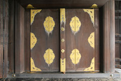 Wood port av ett hus Fotografering för Bildbyråer