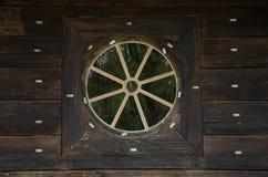 Wood porthole Stock Image