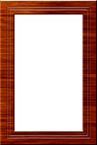 Wood portrait frame. Wood frame for pictures and portraits royalty free illustration