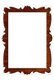 Wood portrait rectangular frame. Rectangular wooden frame for pictures and portraits Royalty Free Stock Photo