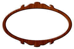 Wood portrait round frame. Round wooden frame for pictures and portraits royalty free illustration