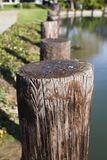 Wood Post By Lake Royalty Free Stock Photography