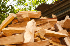 Wood prepared for winter Stock Image