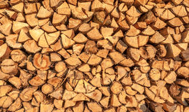 Wood. Prepared for winter heating Stock Photos
