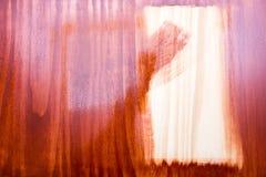 Wood preservation. Warning! Board freshly painted. warning Stock Photos