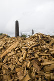 Wood processing factory Stock Images