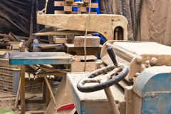 Wood processing machines and tools Royalty Free Stock Photography