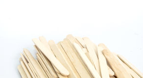 Wood processing. Products for use with ice cream Royalty Free Stock Images