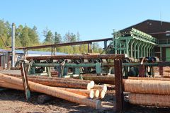 Wood Production Center, Jevany, Czech Republic royalty free stock photo
