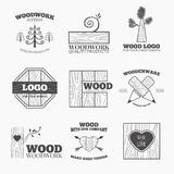 Wood products logo vector Stock Photography