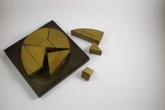 Wood puzzle intelligence royalty free stock images