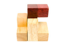 Wood puzzle items Royalty Free Stock Images