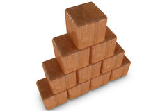Wood pyramid Stock Images