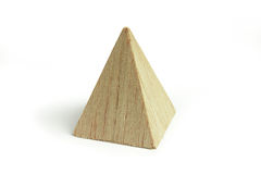 Wood pyramid block Royalty Free Stock Photos