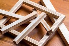 Wood råvaror Arkivfoto