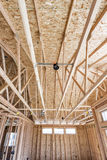 Wood rafters and ceiling joists Stock Photo