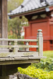 Wood Railing at Senso-ji Temple Stock Photo