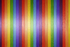 Wood Rainbow Background. A colorful wood background made with the colours of the rainbow spectrum royalty free stock photography