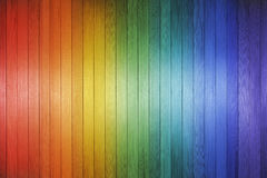 Wood Rainbow Background Texture. A wood background made with the colours of the rainbow Royalty Free Stock Photos