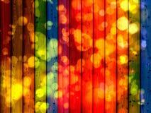 WOOD RAINBOW LIGHTS BACKGROUND Stock Images