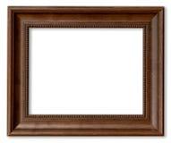 Wood ram för bild på isolerad vit Royaltyfri Bild