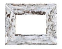 Wood ram för gammal vit ladugård Arkivfoton