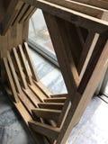 wood ram för kanfas Royaltyfria Bilder