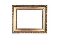 Wood ram för mörk guld- design arkivbild