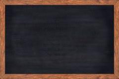 Wood ram för svart tavla med svart yttersida arkivbild