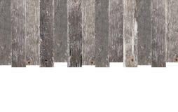 Wood ram med kopieringsutrymme som isoleras på vit Arkivfoto