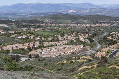 Wood Ranch Simi Valley California. Wood Ranch housing tracts in the Los Angeles area suburb of Sim Valley in Ventura County, California stock photo
