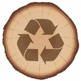 Wood Recycling Symbol Tree Trunk Royalty Free Stock Photography