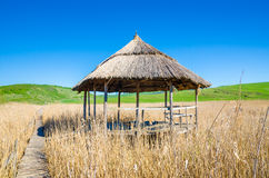A wood and reed hut Royalty Free Stock Image