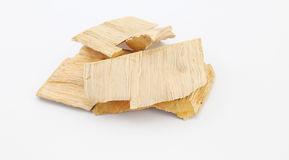 Wood residues on white Royalty Free Stock Images