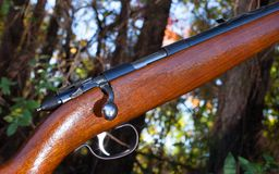 Wood Rifle. Rifle that is somewhere in the fall woods Stock Photography