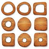 Wood Rings, Circles And Shapes For Ui Game Royalty Free Stock Photography