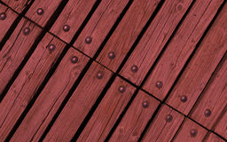 Wood with rivets Royalty Free Stock Images