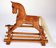 Wood Rocking Horse Stock Photography