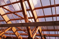 Wood roof Stock Photo