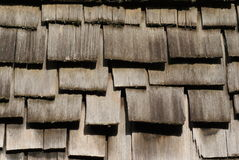 Wood roof Stock Image