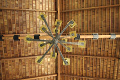 Wood roof ceiling Stock Images