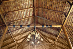 Wood roof ceiling Royalty Free Stock Photography