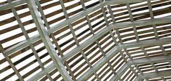 Wood roof structure Stock Photo