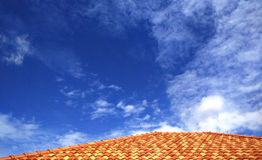 Sky with Roof Stock Image